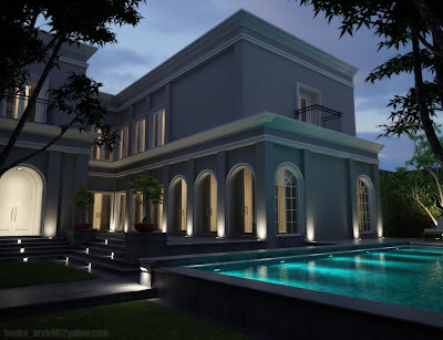 rumah modern on 3D ARCHITECTURE: Rumah Classic Modern