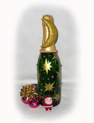 Новогодние бутылки с шампанским своими руками фото 389