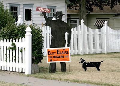 Elect Elaine sign