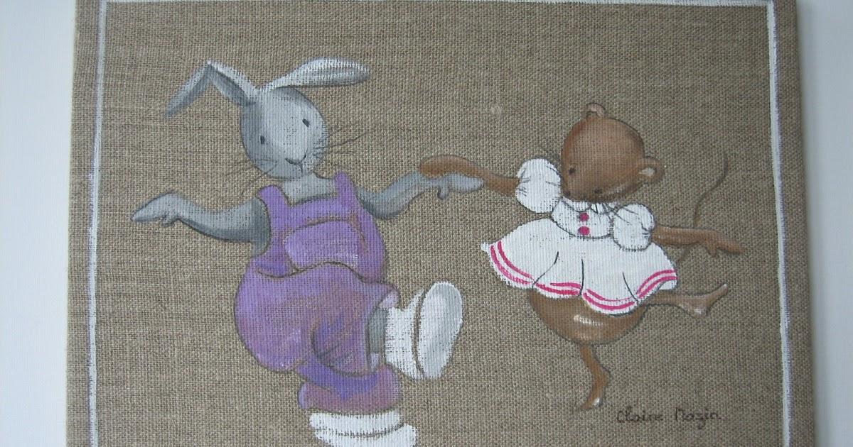 Lin toiles de lin l 39 atelier de kerguelion souris qui danse - Petite souris qui danse ...