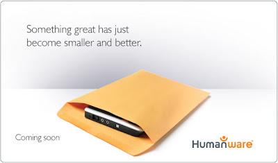 Koperta z nowym tajemniczym urządzeniem firmy Humanware