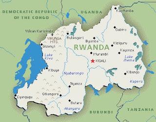 Rwanda Genocide Map Of Rwanda And Surrounding Countries - Rwanda map
