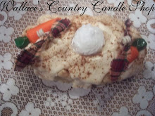 CARROT CAKE GRUBBY OVAL LOAF CANDLE