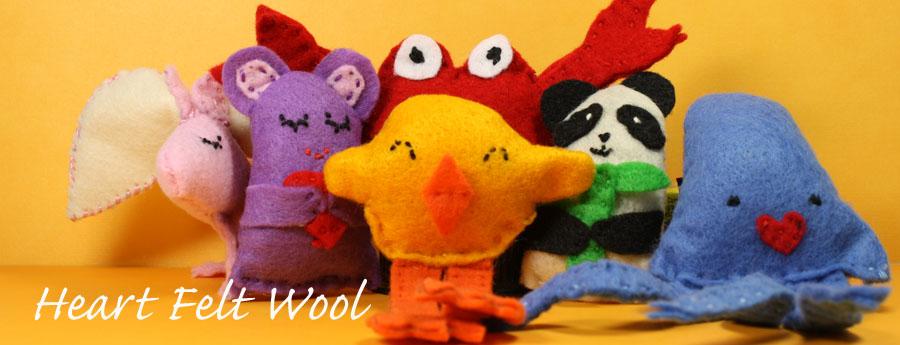 Heart Felt Wool Catnip Toys