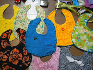 Baby bibs, on the flip side