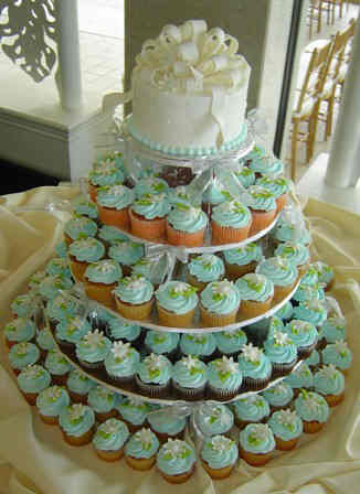 A lot of brides have been asking me about wedding cupcakes and mini cakes