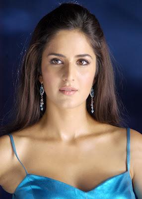 Katrina Kaif wearing blue sleevless top