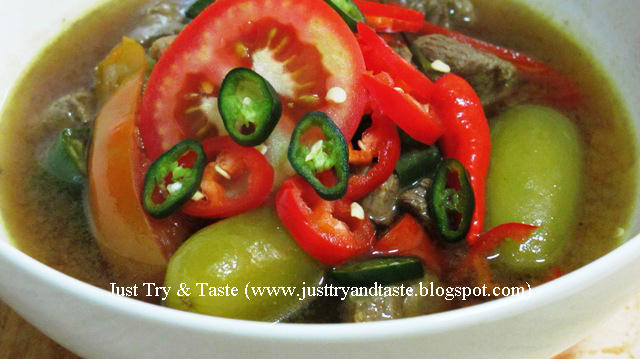 Spicy and Sour Indonesian Beef Soup Recipe