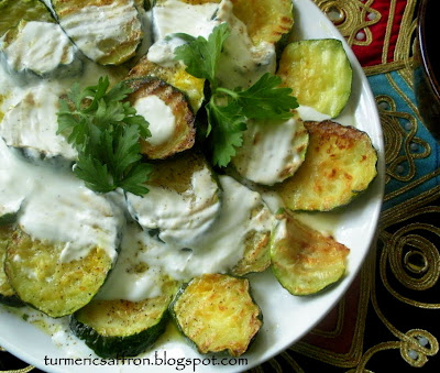 Turmeric & Saffron: Mast-o-Kadoo - Yogurt and Zucchini Salad