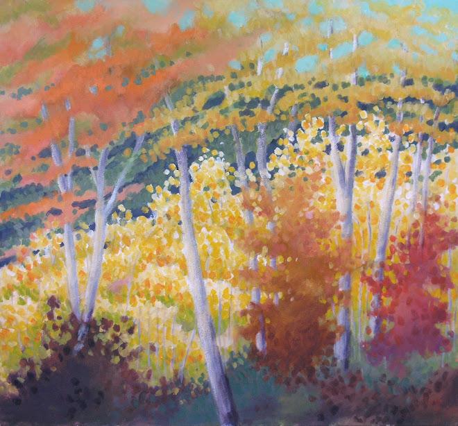Big Birches and Aspens #4