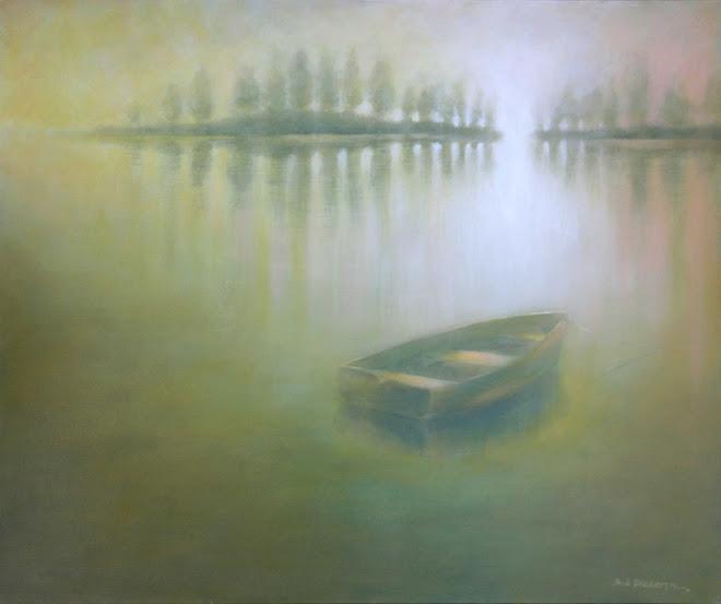 Rowboat on a Lake