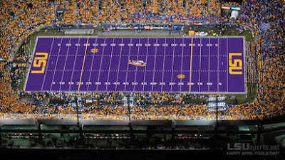 Unfunny April Fools Jokes: LSU's Purple Field