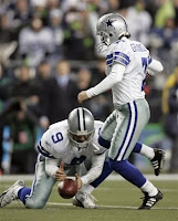 Romo back holding the ball for kicker? This won't end well.