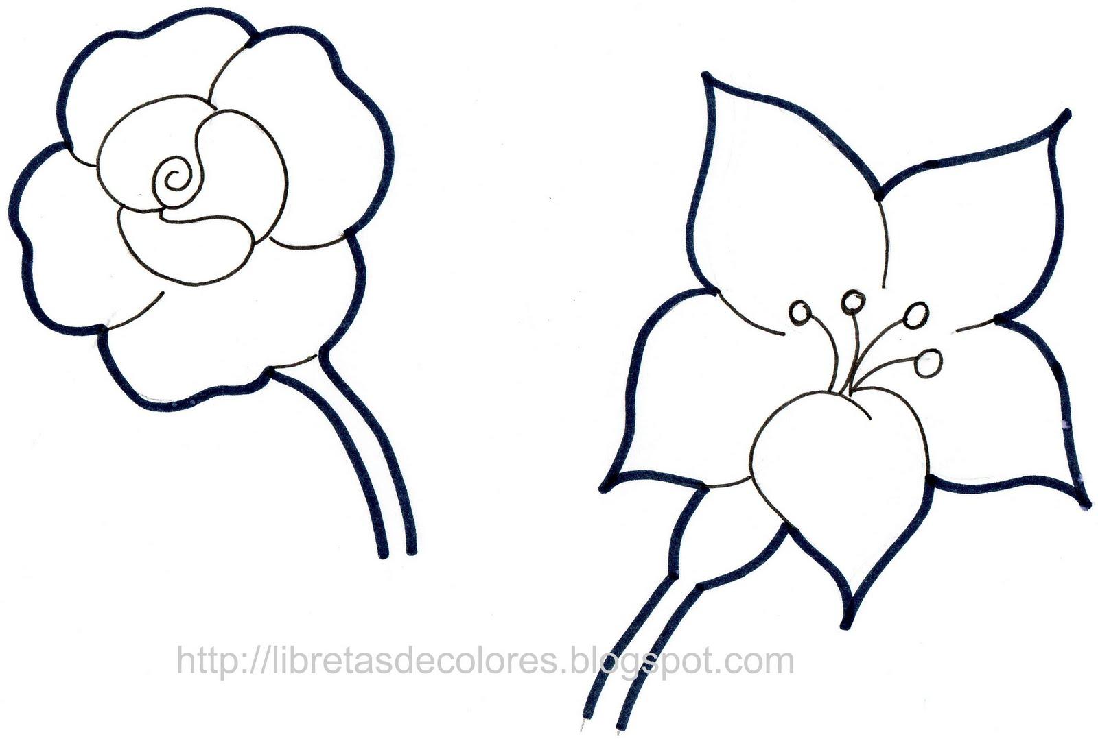 Único Páginas Para Colorear De Flores De Primavera Modelo - Dibujos ...