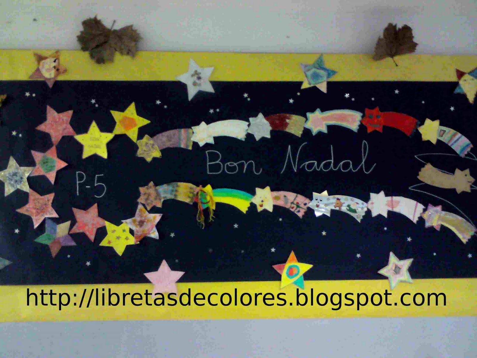 Libretas de colores nuestra estrella de navidad - Mural navidad infantil ...