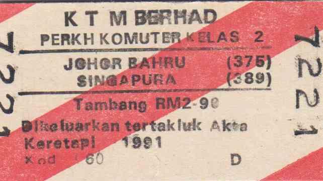 Train tickets to jb