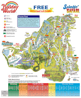 Map of the week 2005 for the christmas season a map of holiday world in santa claus indiana gumiabroncs Image collections