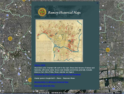 *Google Earth Has A Feature Where You Can Link To Maps From The David  Rumsey Map Collection. The Japanese Maps Are From A Collaboration Between  Rumsey And ...