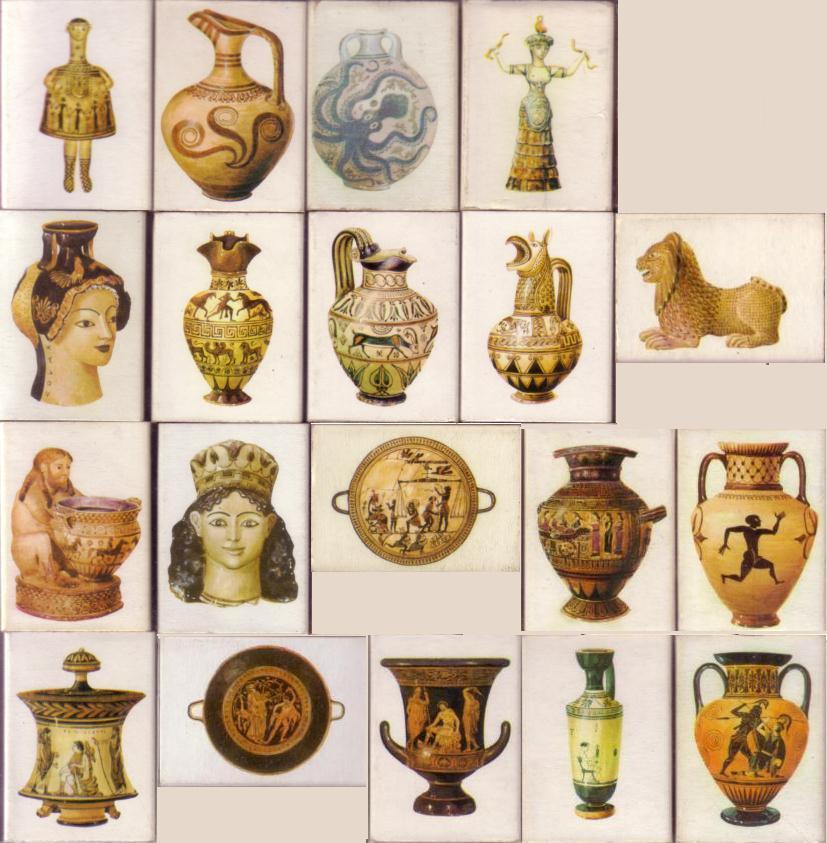 Memoria de papel cajas de cerillas cer mica griega for Figuras ceramica