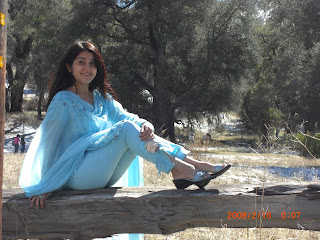 Pakistani Beautiful Girl in Blue Dress