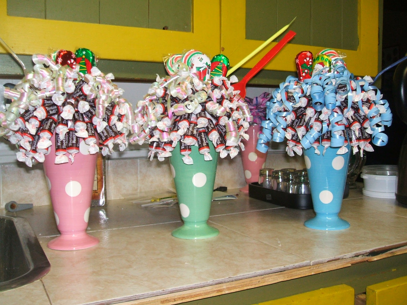 christmas sundaes - Christmas Candy Bouquet