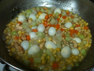 Vegetables with Quail Eggs