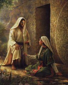 María Magdalena ante Jesús resucitado