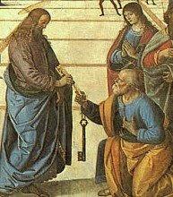 «Entrega de las llaves a San Pedro», Perugino (1481-82). Capilla Sixtina. Vaticano