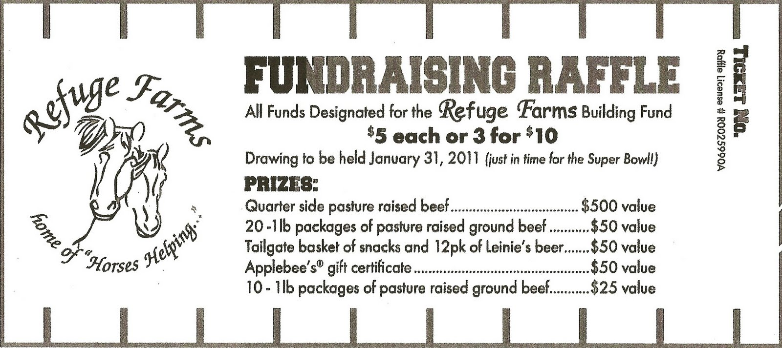 refuge farms refugefarms org tis the season the old barn walls that are literally heading east and south as well as a few shots of a roof that is crumbling into little pieces and raffle tickets