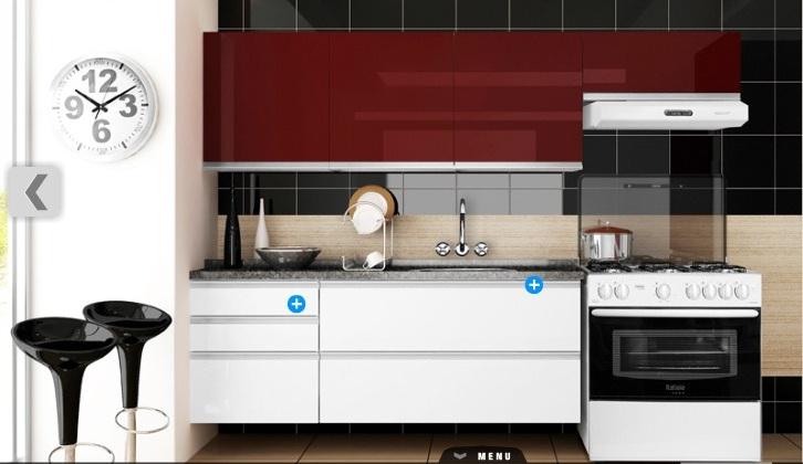 Aparador De Grama Eletrico Leroy Merlin ~ Armario De Cozinha Branco E Vermelho # Beyato com> Vários desenhos sobre idéias de design de