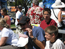 Eating ribs at the Rib Festival 2008