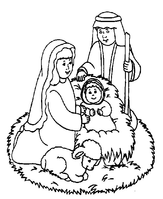 religious christmas coloring pages - photo#1