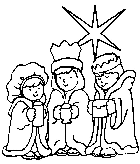 christian christmas coloring pages - photo#1