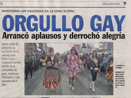 1er DESFILE DEL ORGULLO GAY EN LA CIUDAD DE EL ALTO