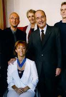 Isabelle décorée avec Mr Jacques Chirac