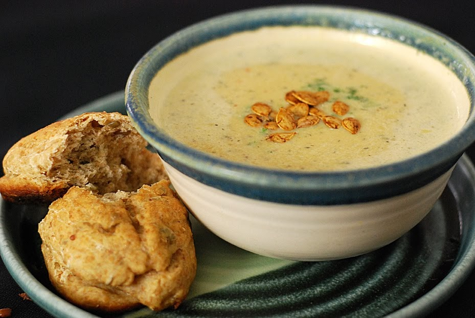 Fire Roasted Acorn Squash Soup