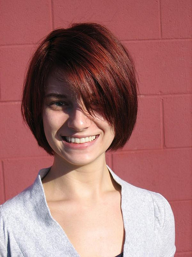 bob hairstyles with a fringe. Choppy Layered Bob & Side-Swept Fringe. choppy bob hairstyle. Medium Length