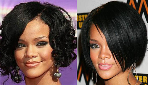 rihanna short hair. rihanna hairstyles short hair.