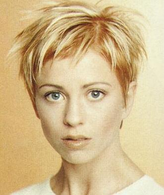 short hairstyles for women with thin hair. Punk Women short hairstyle and