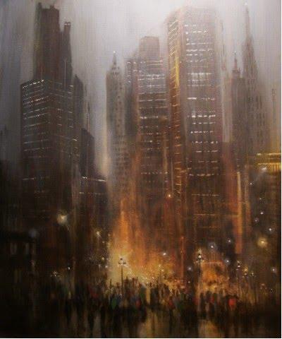 Rainy City Wallpaper Painting The Art Of Tom Shropshire Rain