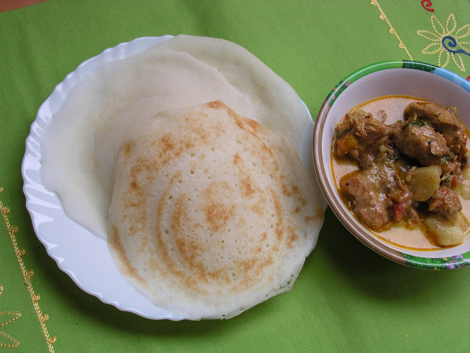 Enriching your kid appam for Appam and chicken stew kerala cuisine