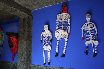 Day of the Dead papier maché sculptures, Frida Kahlo museum, Mexico