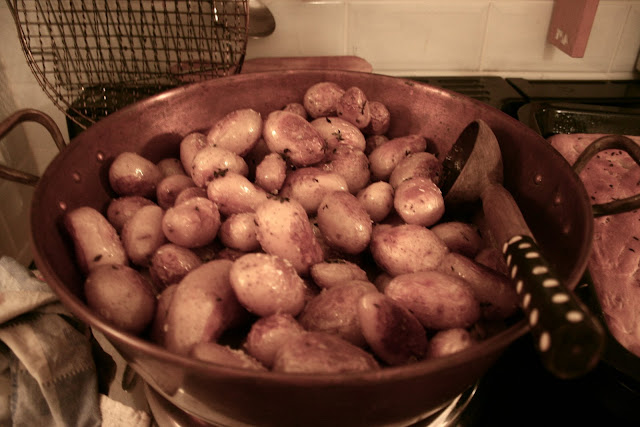 small firm potatoes (Sofia, Exquisa) Aga baked