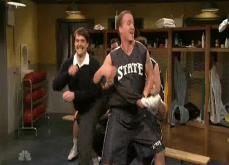Will Forte Peyton Manning Locker Room Skit