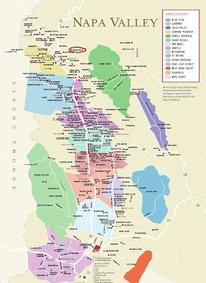 We Study Wine Map of Napa Valley Wineries