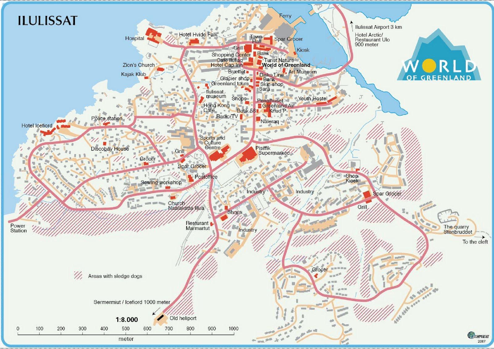 kort over ilulissat