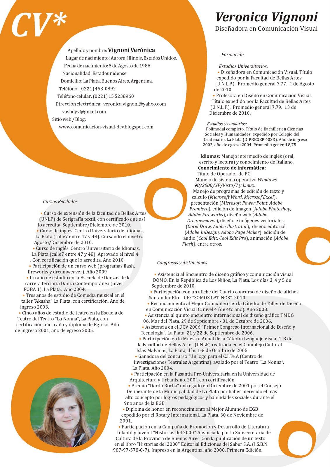 Diseno En Comunicacion Visual Curriculum Vitae