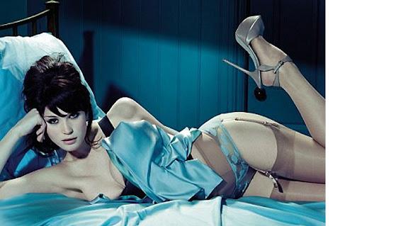 Gemma Arterton wears Roksanda Ilincic corset top, La Perla panties, ...
