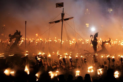 fire festival Up Helly Aa