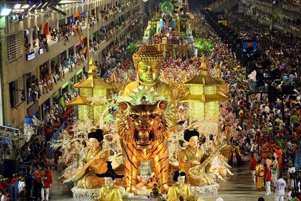 The carnival in Rio